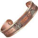 MasonicMan Masonic Men's Pure Copper Magnetic Therapy Adjustable Bracelet Bangle (Copper)