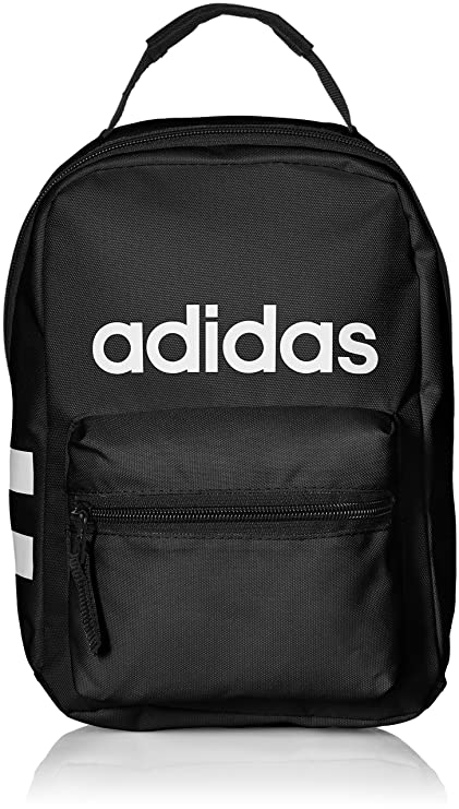 50dd58befce Amazon.com  adidas Santiago Lunch Bag, Black White, One Size  Sports ...
