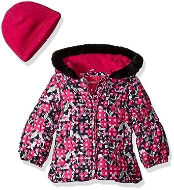 9ffb6ce4b Amazon.com  London Fog Baby Girls  Classic Puffer Jacket with Fleece ...