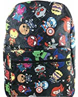 "Avengers Ironman, Spiderman, Allover Print 16"" Boys/Girls Large School Backpack"