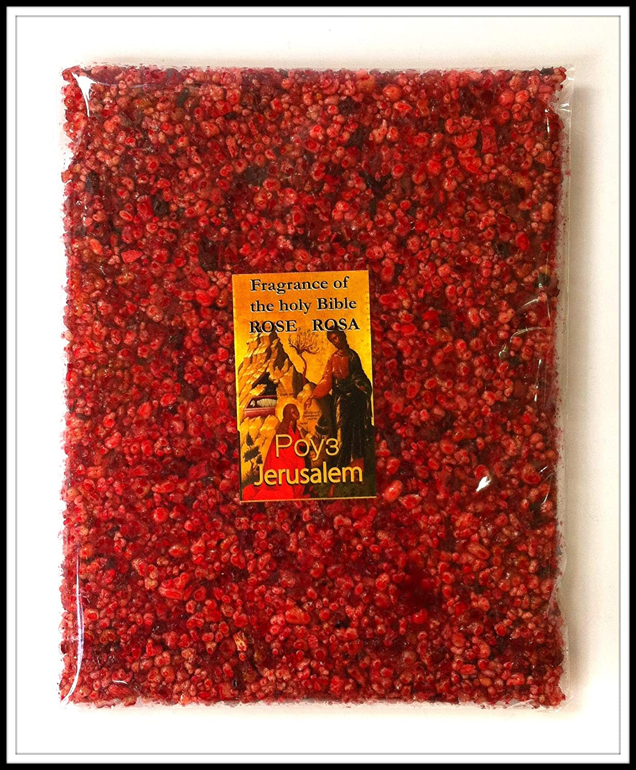 Rose of Sharon Frankincense Resin Aromatic Incense from Jerusalem Holy Land 3.5 oz / 100 g Holy Land Collection FRB103
