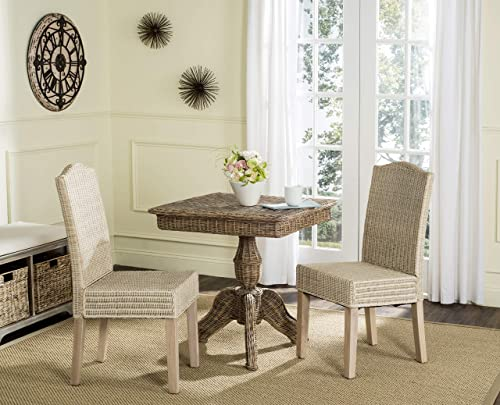 Safavieh Home Collection Odette Grey Wicker Dining Chair