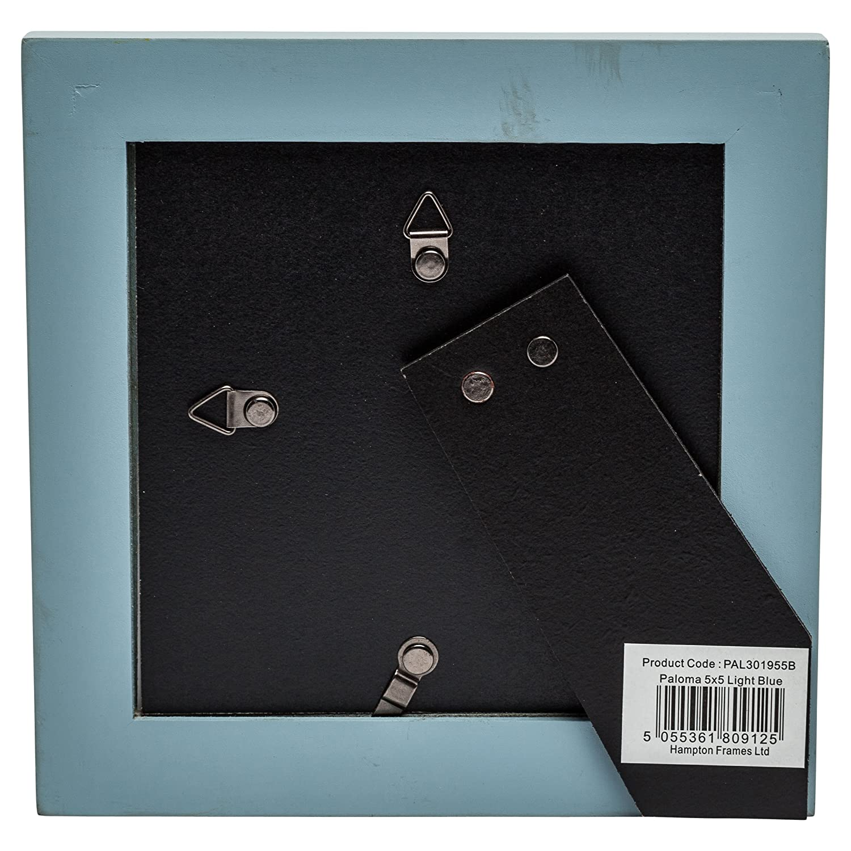PAL301955W Paloma marco cuadrado (13 x 13 cm) blanco, acabado de madera Negro dorsos con clips. En caja individual.: Amazon.es: Hogar