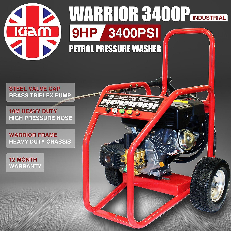 Kiam Warrior 3400P 9hp Lavadora a presión de gasolina ...