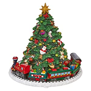 RAZ Imports Animated Musical Christmas Tree Holiday Home Decoration