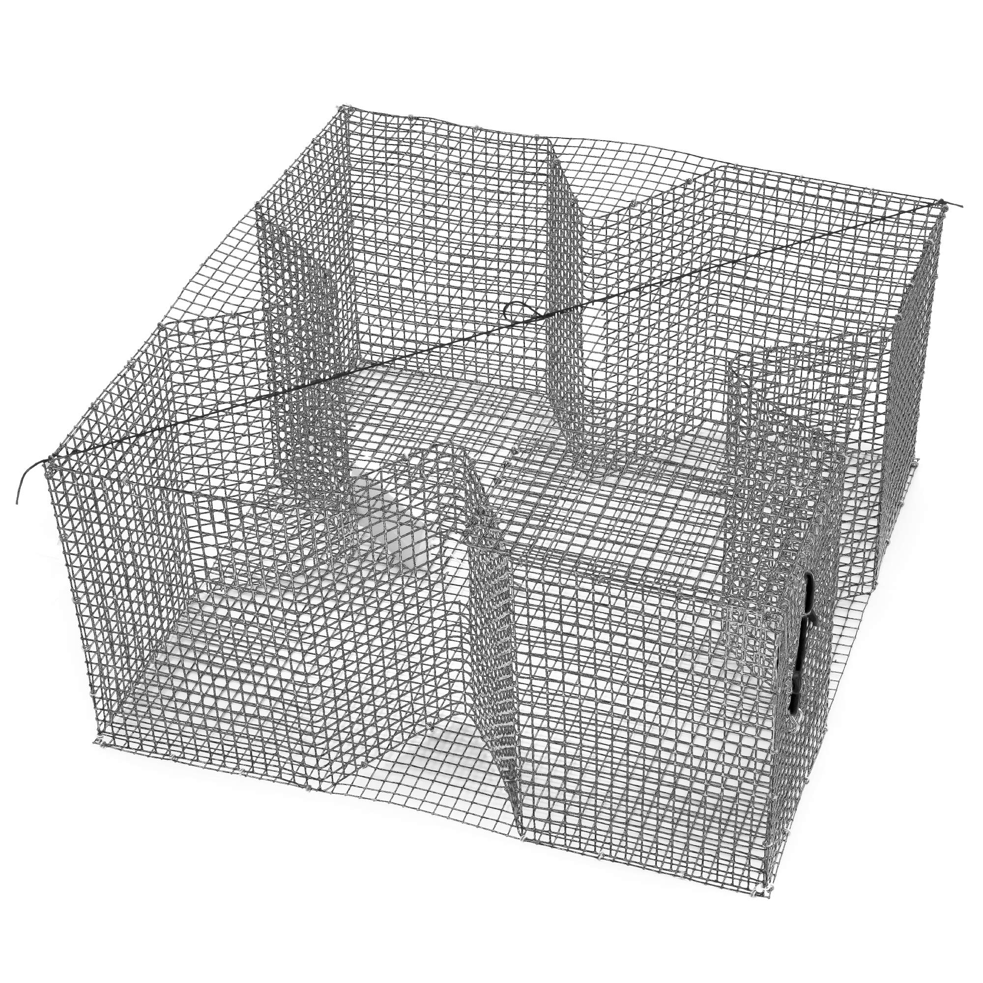 Nets & More Bait Trap. 24'' x 24'', 12'' deep. Galvanized Wire for Bream and Other Bait Fish. Made in The USA.