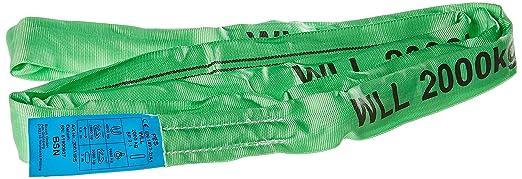 Braun Rundschlinge 2000kg Tragkraft 4m Umfang Endlos mit Polyesterkern Grün