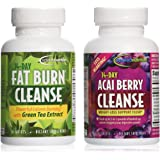 Applied Nutrition 14-Day Acai Berry Cleanse + 14-Day Fat Burn Cleanse, Value Pack 56 tablets per bot
