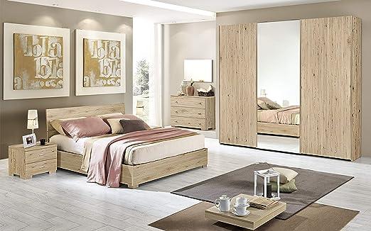 Dafnedesign.Com - Dormitorio completo - Efecto roble crudo (cama ...