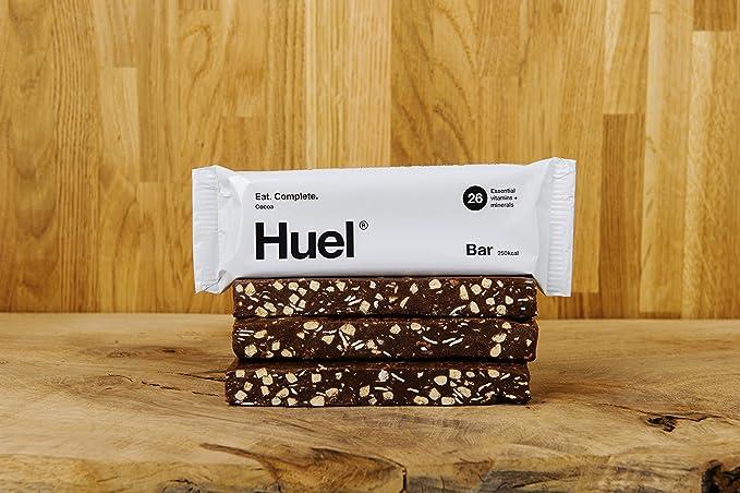 Barras Huel Cacao Natural Sin Gluten - Merienda Saludable ...