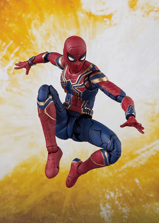 TAMASHII NATIONS Bandai S.H Figuarts Iron Spider /& Tamashii Stage Avengers Infinity War Action Figure