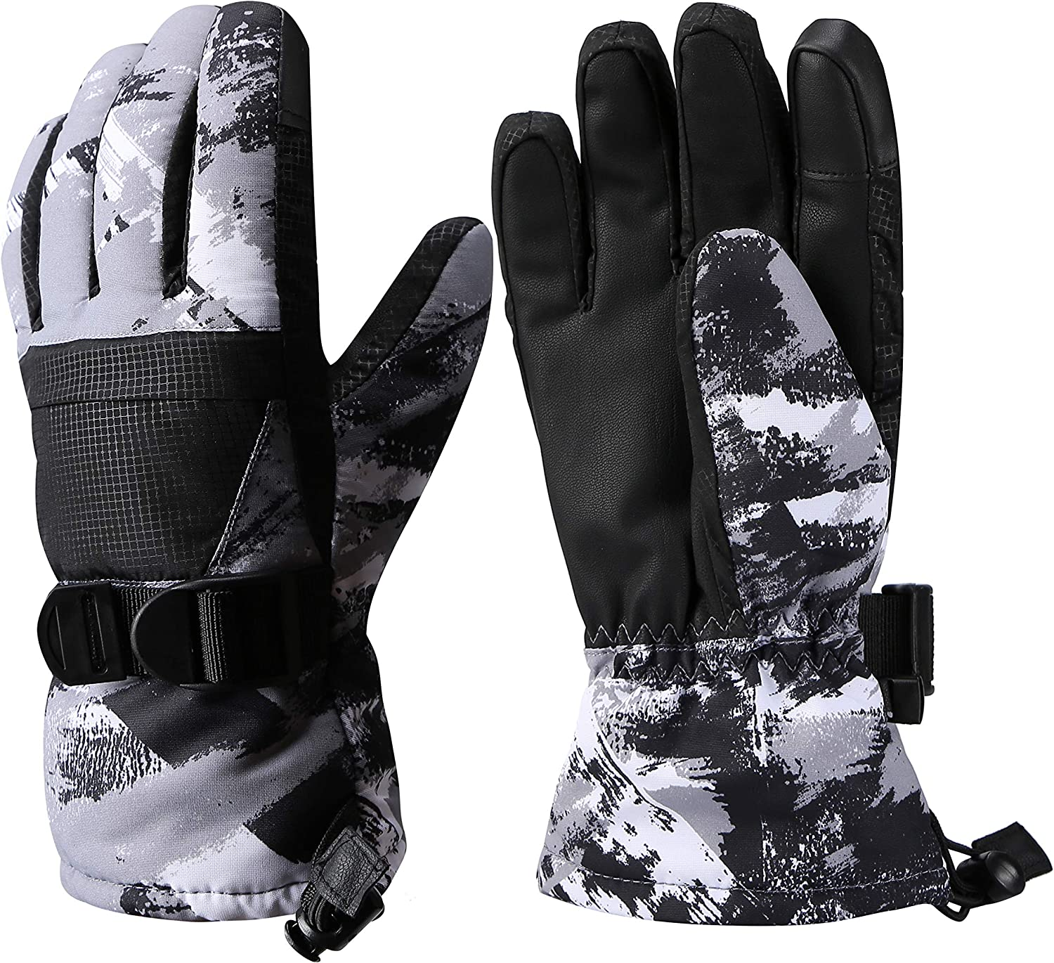 Ski Gloves, Warmest Waterproof and Breathable Snow Gloves for Mens, Womens, Ladies and Kids Skiing, for Parent Child Outdoor : Clothing