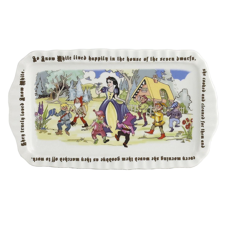 Cardew Design Snow White Rectangular Tray, 12 x 6', Multicolor 12 x 6 SNW501