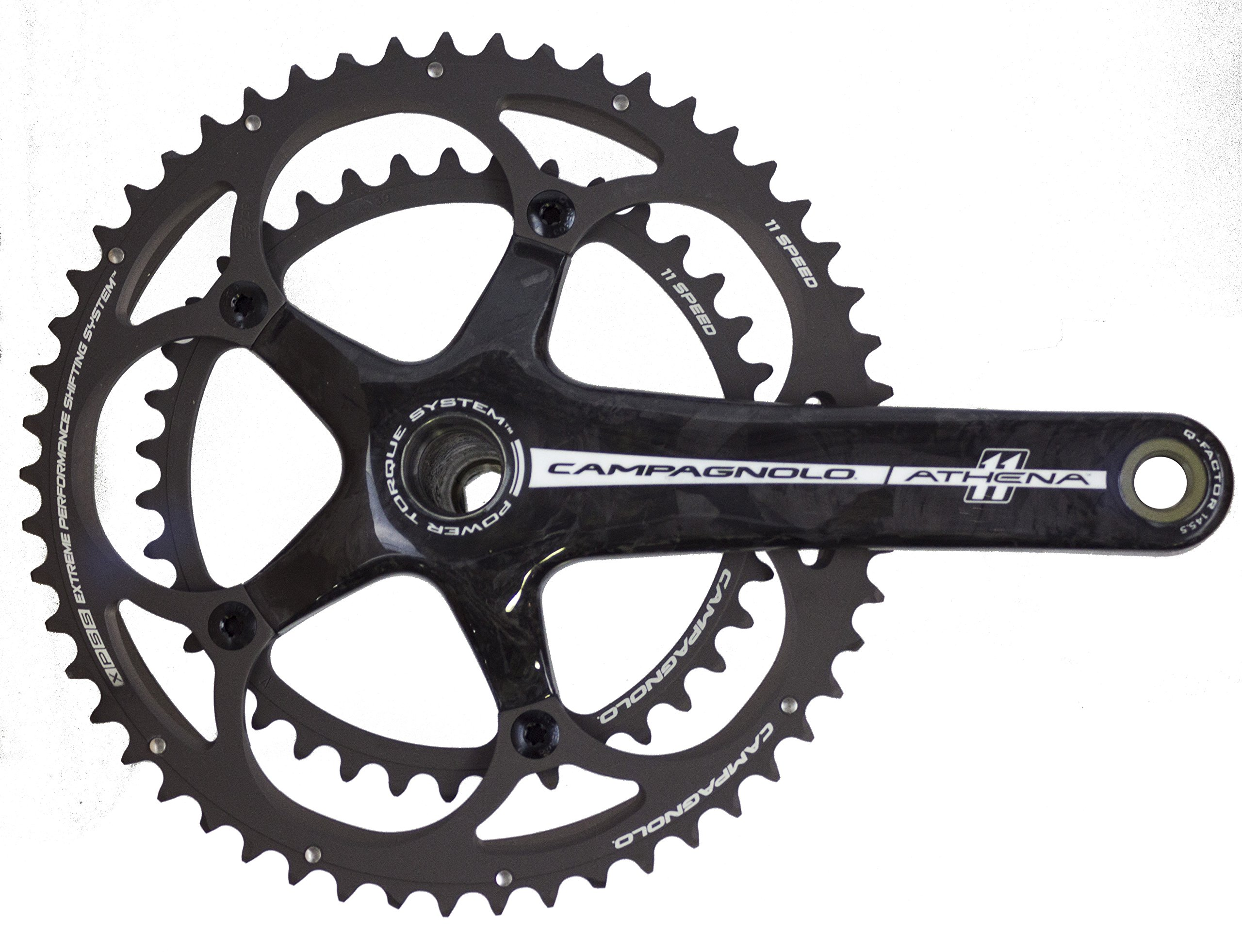Campagnolo Athena Crankset 175mm 50-34 EVO; Bottom Bracket Not Included by Campagnolo
