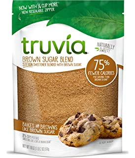 Truvia Brown Sugar Blend, Mix of Natural Stevia Sweetener and Brown Sugar, 18 oz