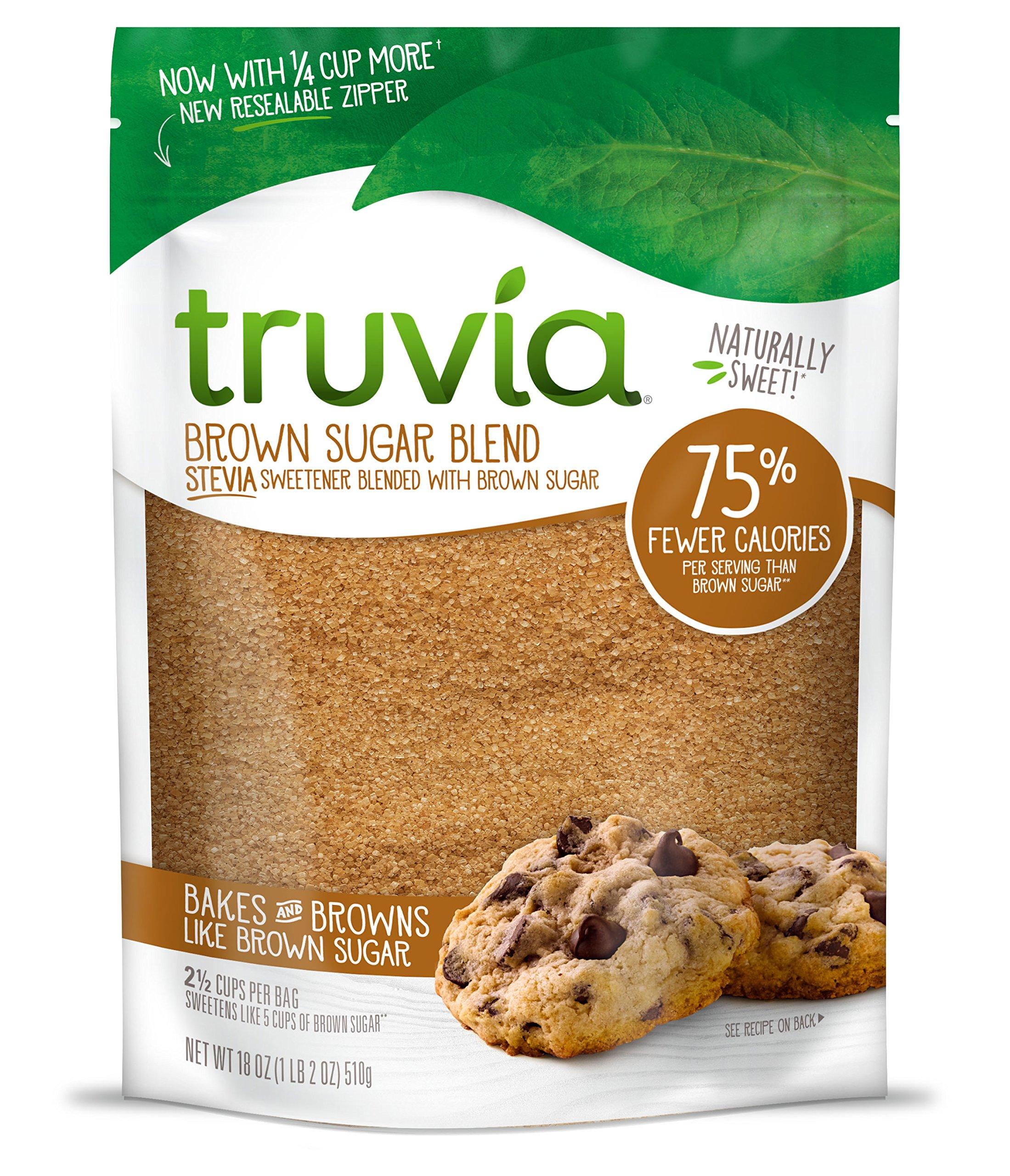 Truvia Brown Sugar Blend, Mix of Natural Stevia Sweetener and Brown Sugar,  18 oz Bag: Amazon.com: Grocery & Gourmet Food