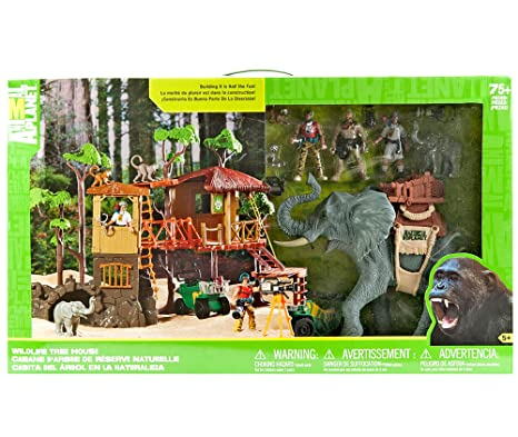 Wildlife Tree House Animal Planet Playset Jungle Adventure ... on animal safari wildlife, fisher-price farm animal set, farm animal safari set, animal planet wildlife tree house bridge, animal planet wildlife family, lego wildlife set, ocean sea animal set, animal planet wildlife game, jurassic park toy set, animal toys,