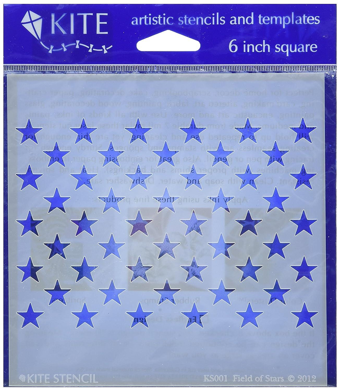 Judikins Kite-Stencil, 15 cm, campo di stelle, in acrilico KS001