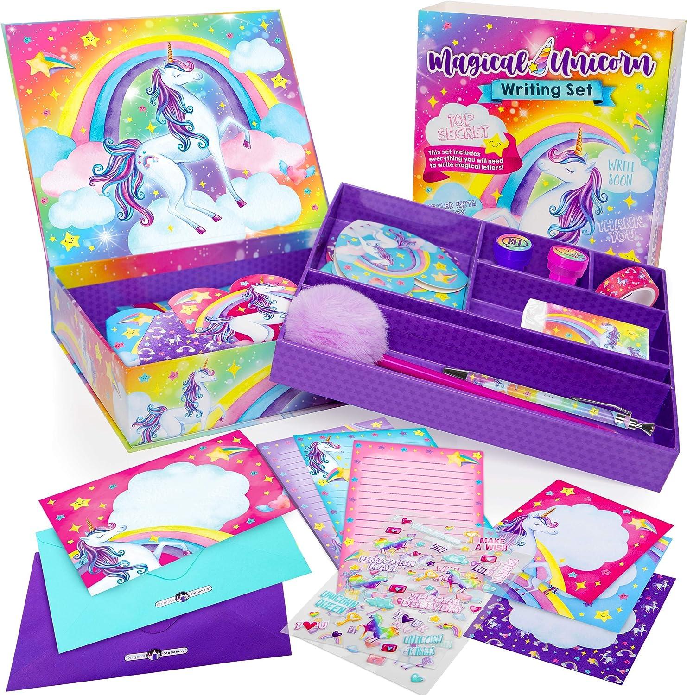 Girls Personalized Unicorn Stationary With Envelopes Kids Stationary With Lines Horse KS136 Unicorn Thank You Notes Girls Stationery Set