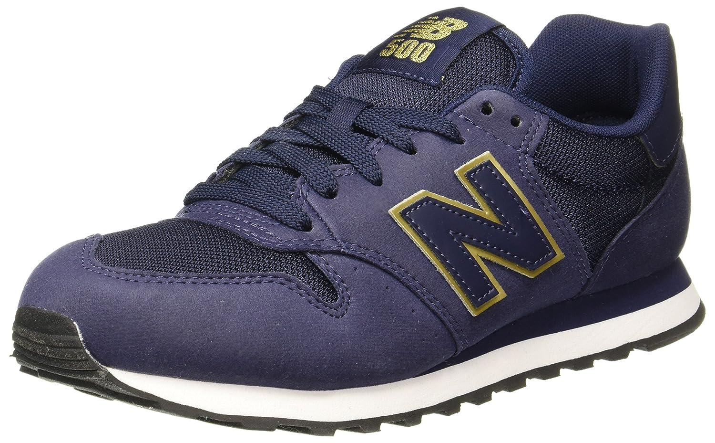 New Balance 500, Zapatillas para Mujer 36.5 EU|Azul (Navy/Gold Ngn)