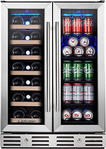 Kalamera-24''-Beverage-and-Wine-Cooler-Dual-Zone-Built-in-and-Freestanding