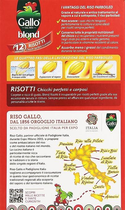 gallo - blond, risotti, 1 kg: amazon.it: alimentari e cura della casa - Come Cucinare Il Gallo