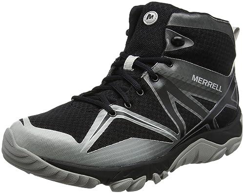 Merrell Mqm Edge Mid Gore-Tex, Stivali da Escursionismo Alti Uomo, Nero (Black), 40 EU (6.5 UK)