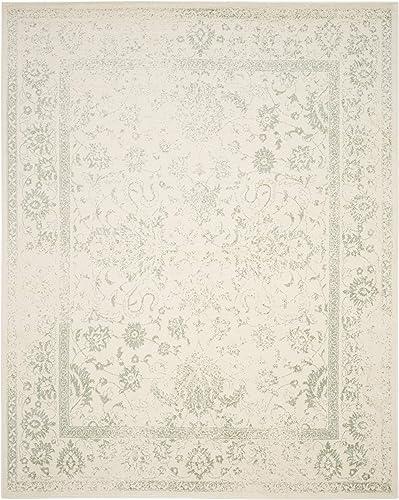 Safavieh Adirondack Collection ADR109V Ivory and Sage Oriental Vintage Distressed Area Rug 8 x 10
