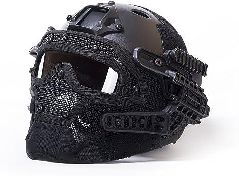 Militar-TLD Militar táctico de Airsoft Paintball Casco Protector ...