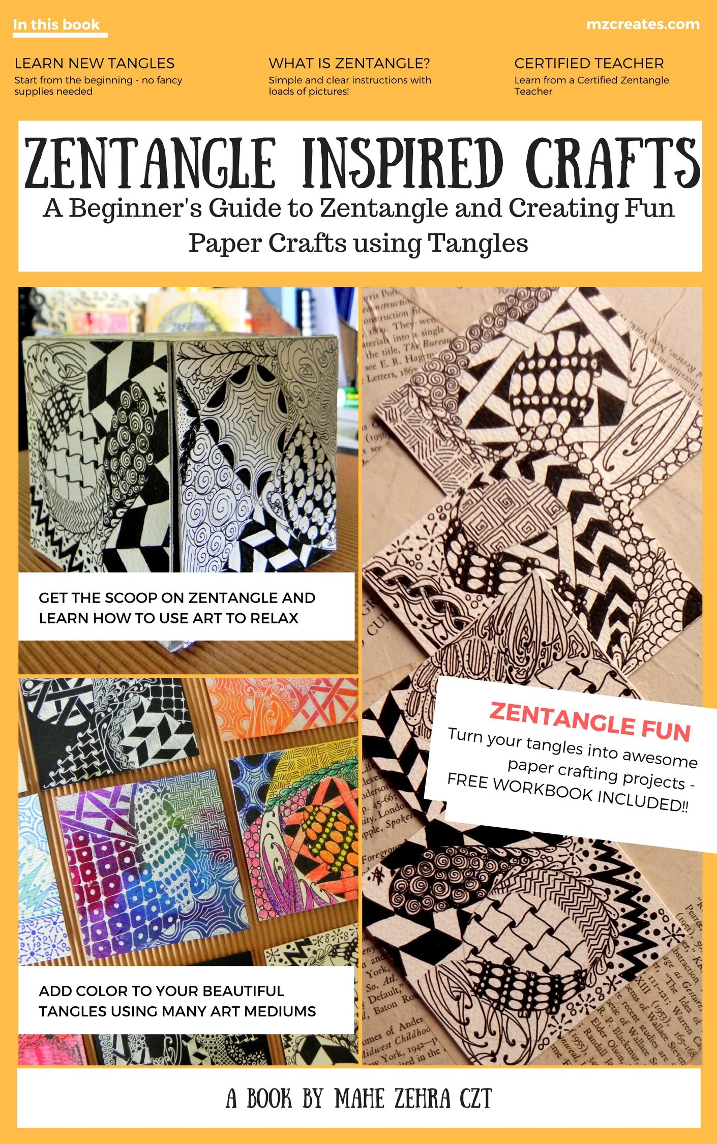 Zentangle Inspired Crafts  A Beginners Guide To Zentangle Art And Zentangle Inspired Art And Craft Projects  English Edition