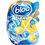 Bloo Fragrance Switch Toilet Rim Block Marine Ocean & Lemon with Anti-Limescale, Cleaning Foam, Dirt Protection and Extra Fre