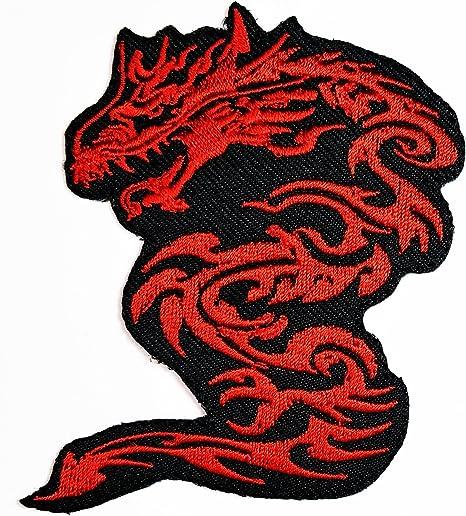 HHO rojo dragón chino Kung Fu Artes Marciales Logo parche bordado ...