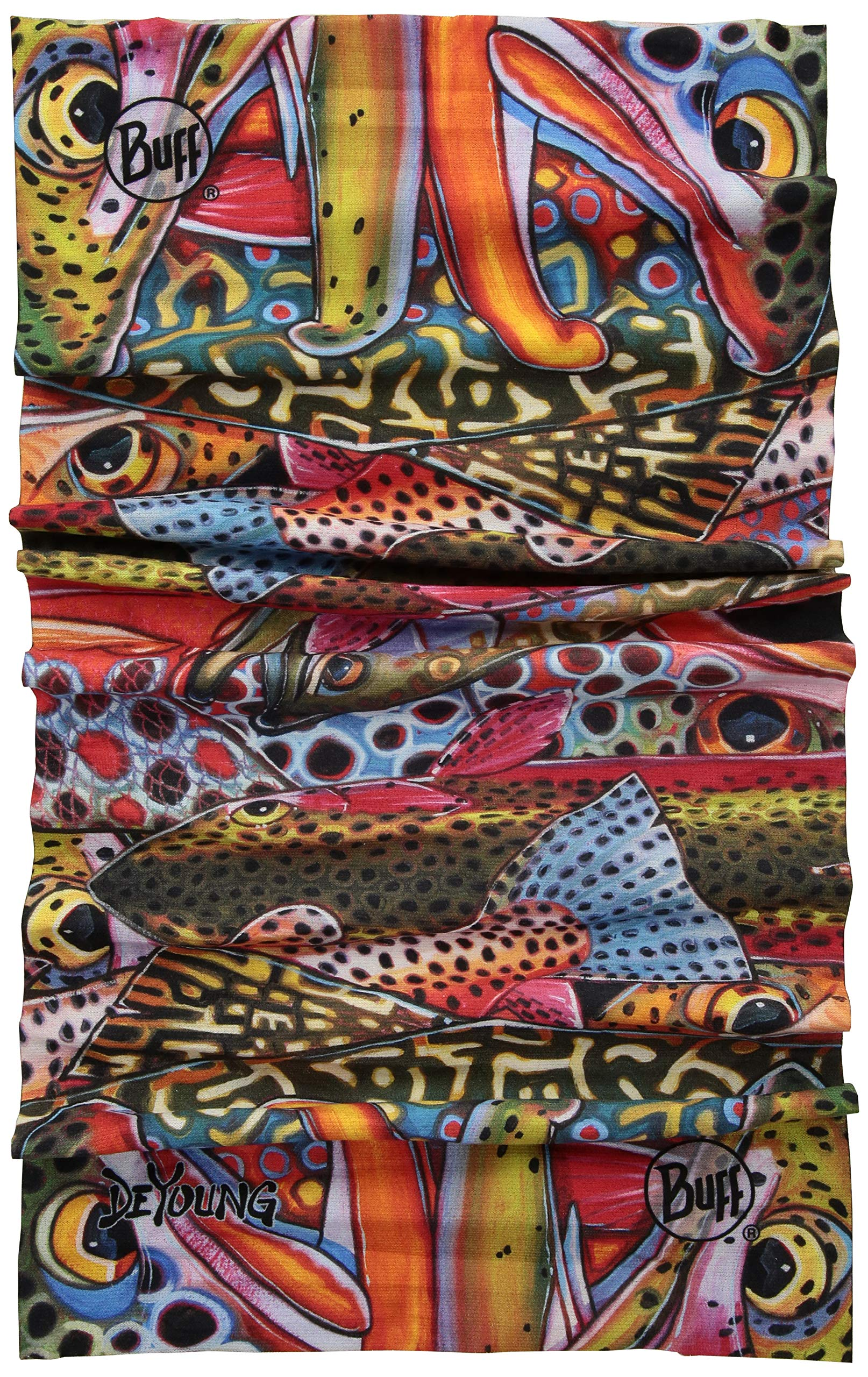 BUFF Unisex Coolnet UV+ 1, Deyoung Trout Confetti, One Size by Buff
