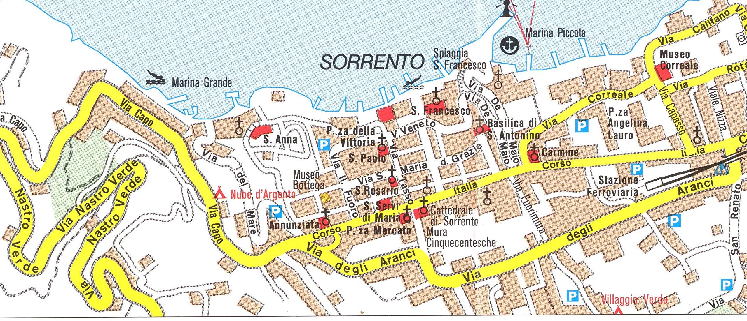 Amalfi Coast Sorrento Peninsula Italy 1 50 000 Hiking