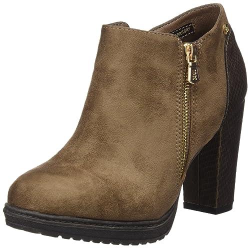 Xti Botin Sra. Antelina Combinada 46004, Zapatos De Tacón, Mujer, Beige (Taupe), 36: Amazon.es: Zapatos y complementos