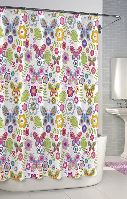 Kassatex Scb 115 But W Bambini Shower Curtain Butterflies