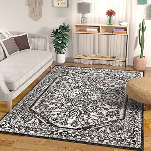 Well Woven Luna Medallion Vintage Oriental Grey Area Rug 3×5 3 11 x 5 3
