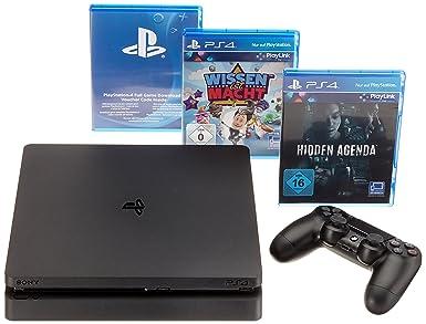 Sony PlayStation 4 Slim 500GB + PlayLink Negro Wifi ...