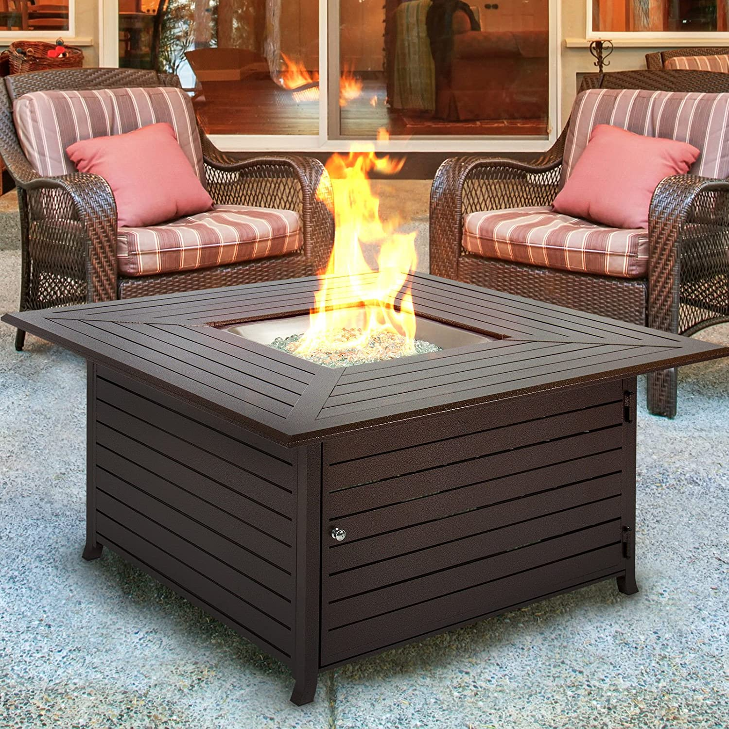 Extruded Aluminum Gas Outdoor Fire Pit Table