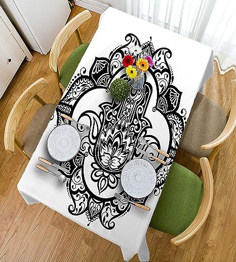 HAIXIA Hamsa - Mantel decorativo (marco de ornamento curvado con ...