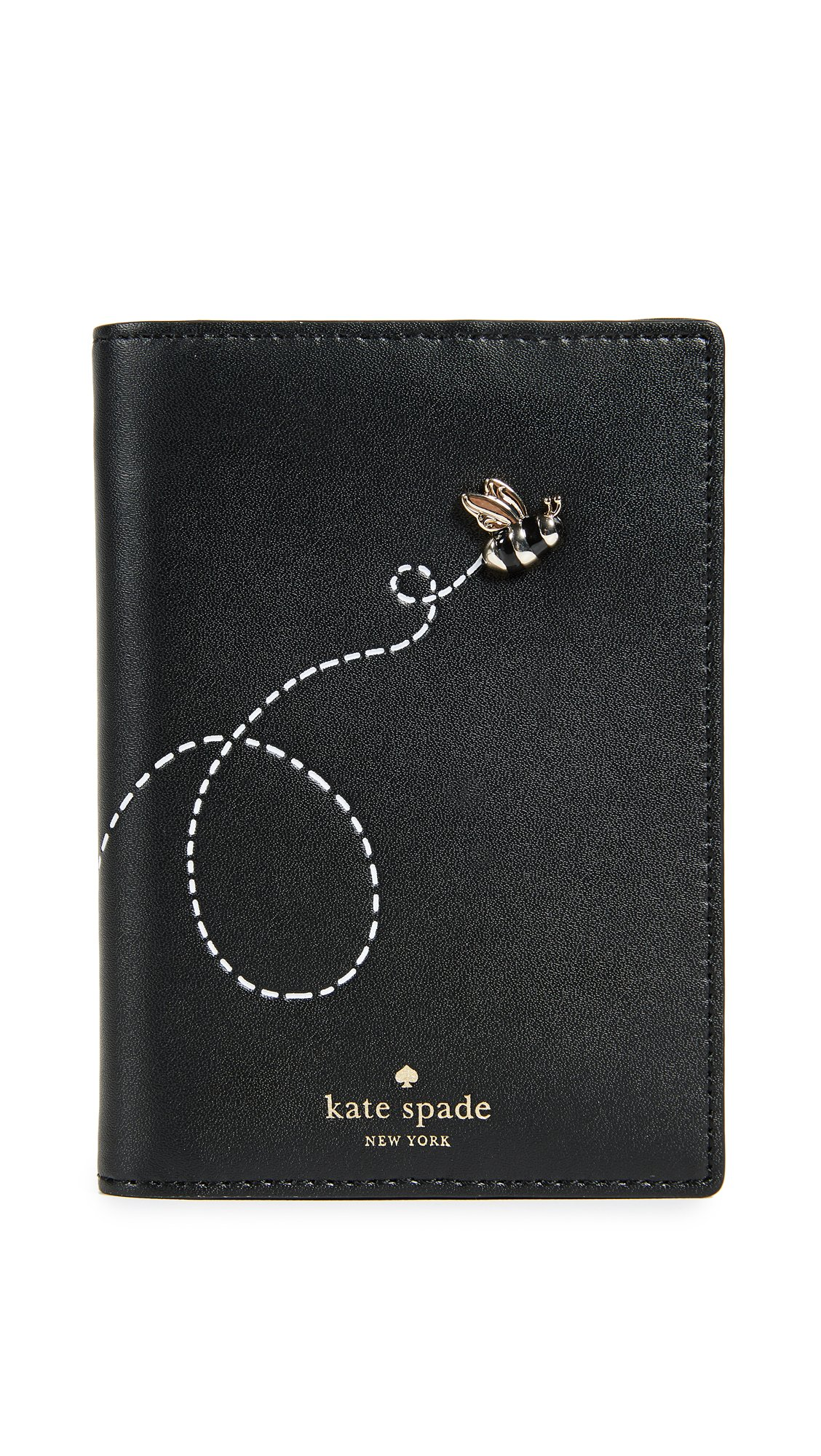 Kate Spade New York Women's Picnic Perfect Bee Passport Holder, Multi, One Size