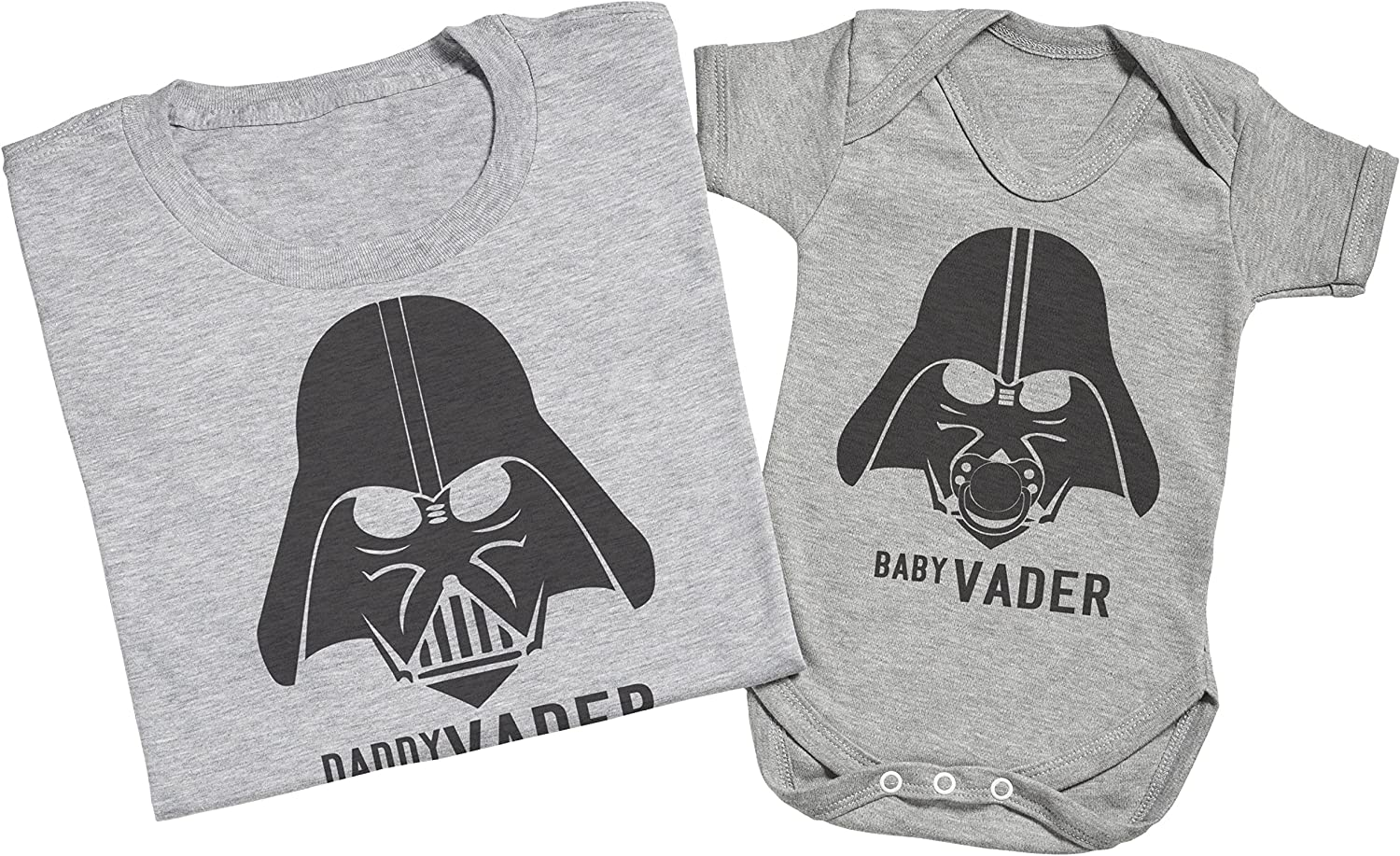 Matching Father Baby Gift Set Zarlivia Clothing Baby Vader /& Daddy Vader Mens T Shirt /& Baby Bodysuit