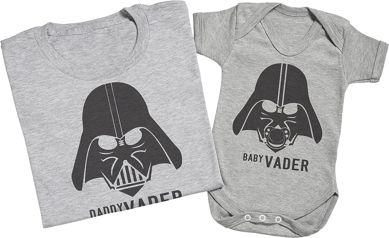 Ensemble P/ère B/éb/é Cadeau Gris Medium /& 6-12 Mois Zarlivia Clothing Baby Vader /& Daddy Vader Hommes T-Shirt /& Body b/éb/é