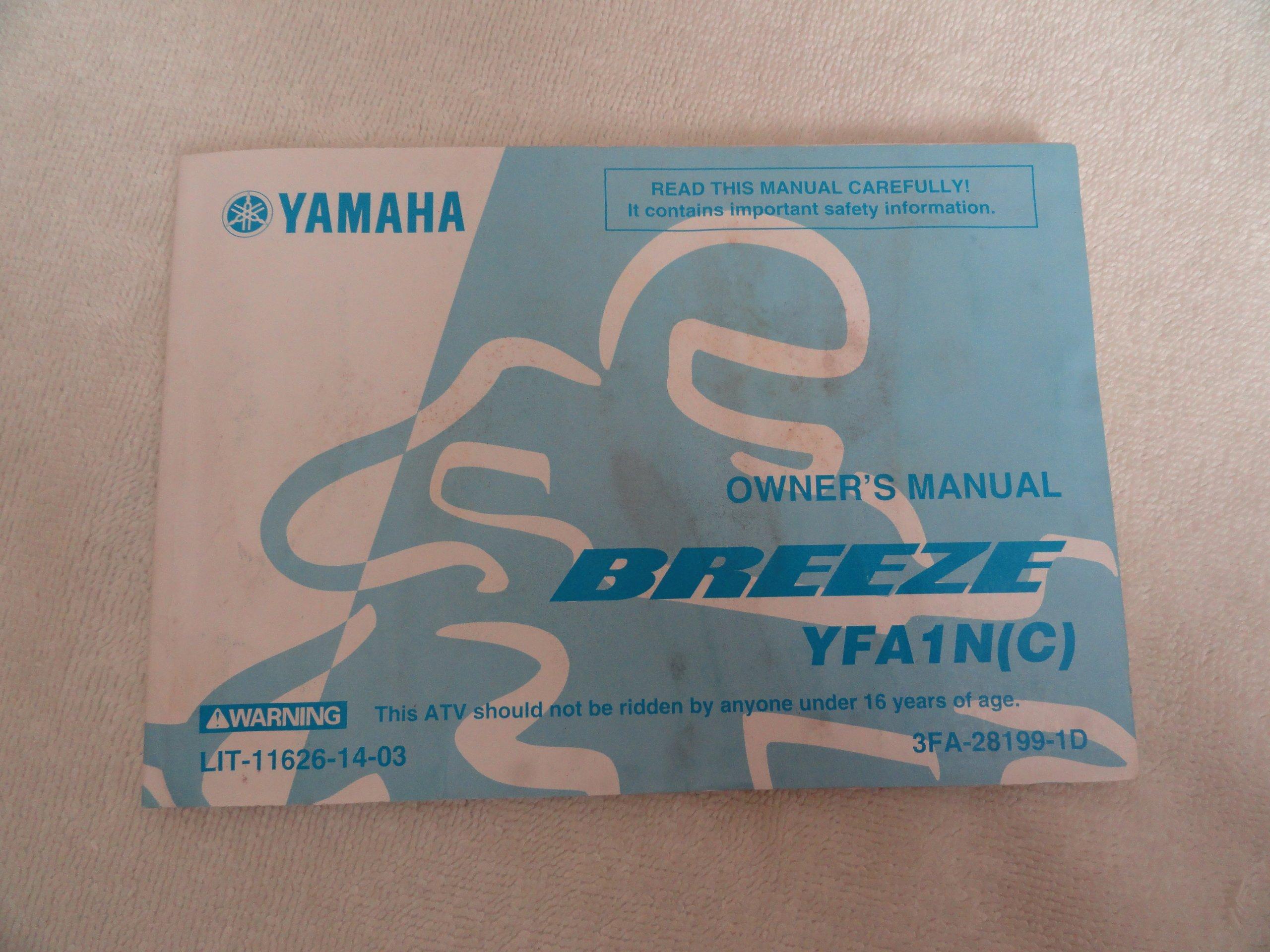 2000 2001 yamaha breeze owners manual yfa1n c yamaha amazon com rh amazon com Yamaha 701 Remote Control Manual Yamaha Stereo Manuals