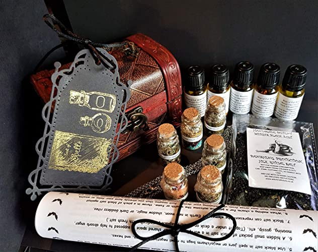 Witch's Altar Chest ~ Spell Kits ~ Magical Herbs ~ Oils ~ FREE