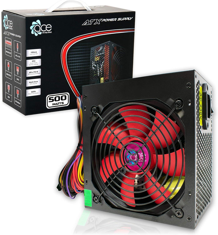 Fuente de Alimentación Conmutada PSU 500W ATX con 12cm Rojo del Ventilador Silencioso/para PC Computer/iCHOOSE: Amazon.es: Electrónica