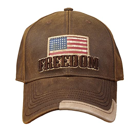 54bc25cc38b Image Unavailable. Image not available for. Color  Farm Boy Freedom Oilskin  Hat w  American Flag