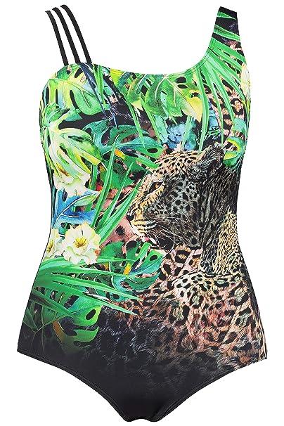 tolle Auswahl Modestil von 2019 süß billig Ulla Popken Damen Leopard, Größen Badeanzug