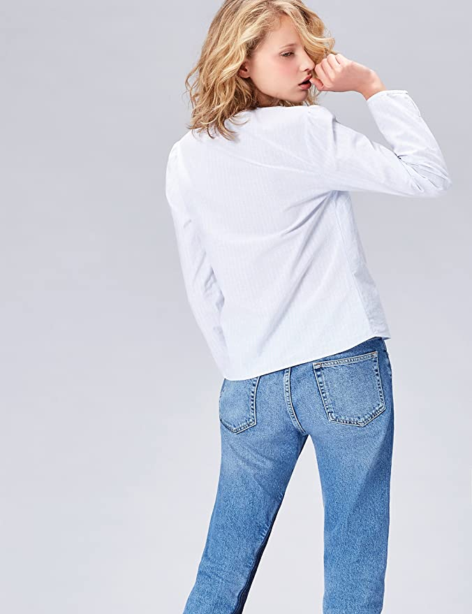 FIND Camisa con Blonda para Mujer