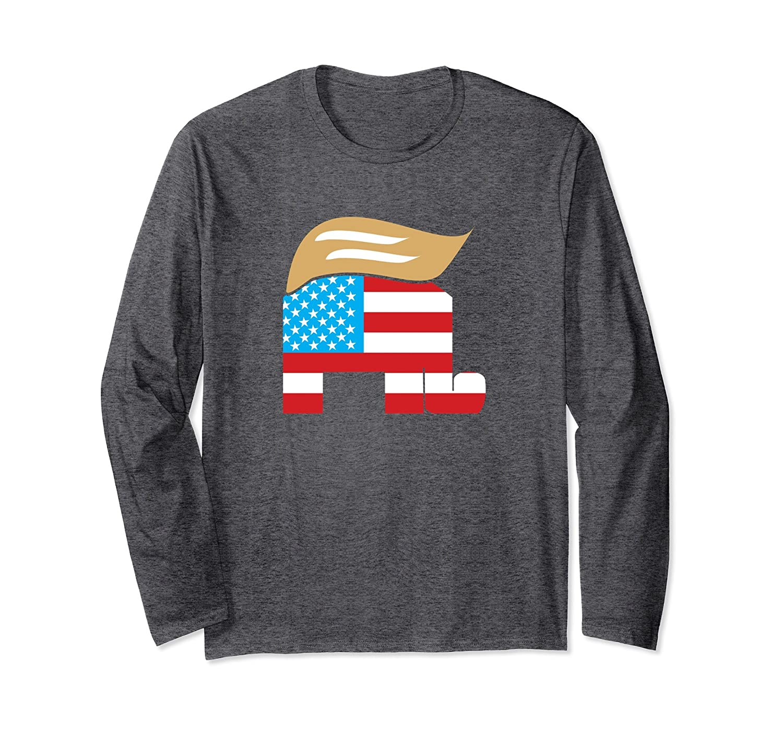 9ff2e29a649e3e GOP Elephant Support President Trump Long Sleeve T-Shirt-alottee gift